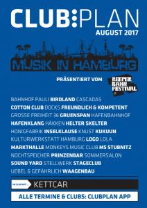 Clubplan Heft - Musik in Hamburg