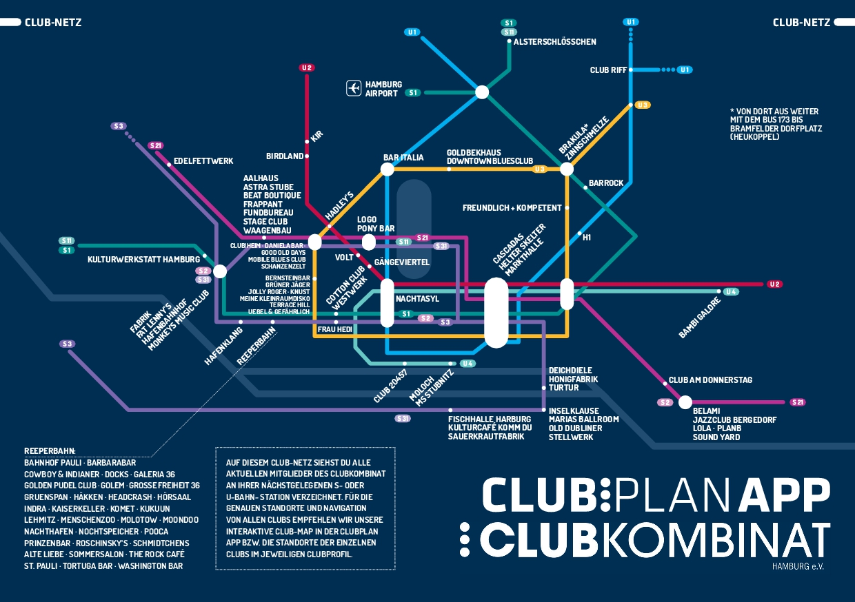 Das Hamburger Club-Netz / Club-Map