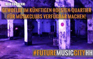 Gewölbe im künftigen Holsten-Quartier für Musikclubs nutzbar machen.