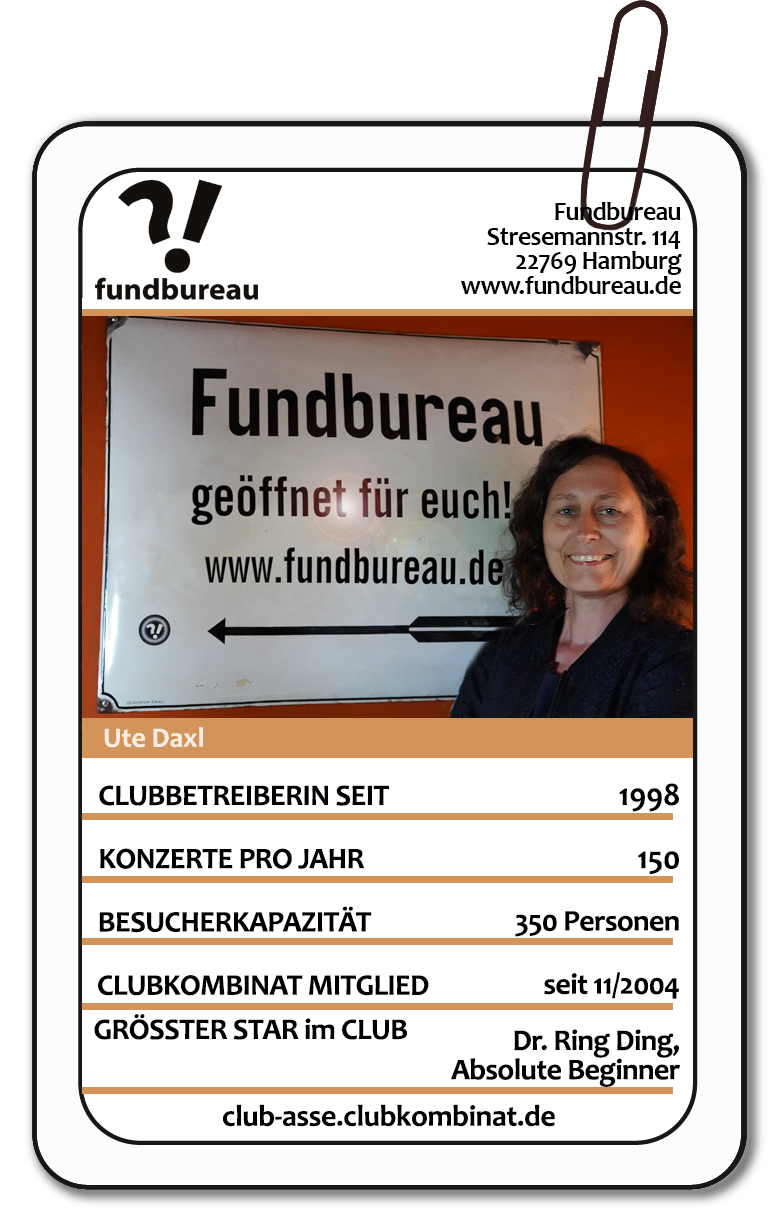 Club-Ass: Ute Daxl / Fundbureau