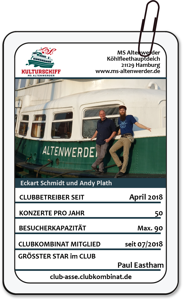 Club-Ass: Eckart Schmidt / MS Altenwerder